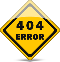 404 page not found error sign