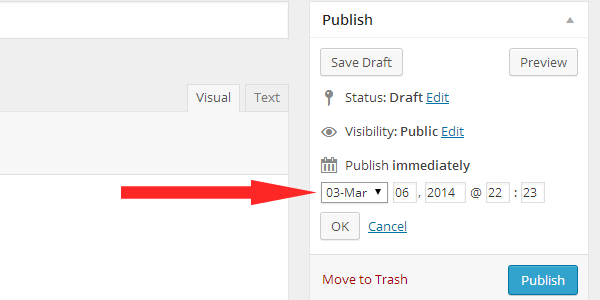 Change post date in WordPress
