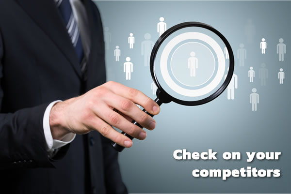 check on your competitors