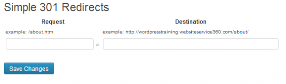 Simple 301 redirects WordPress