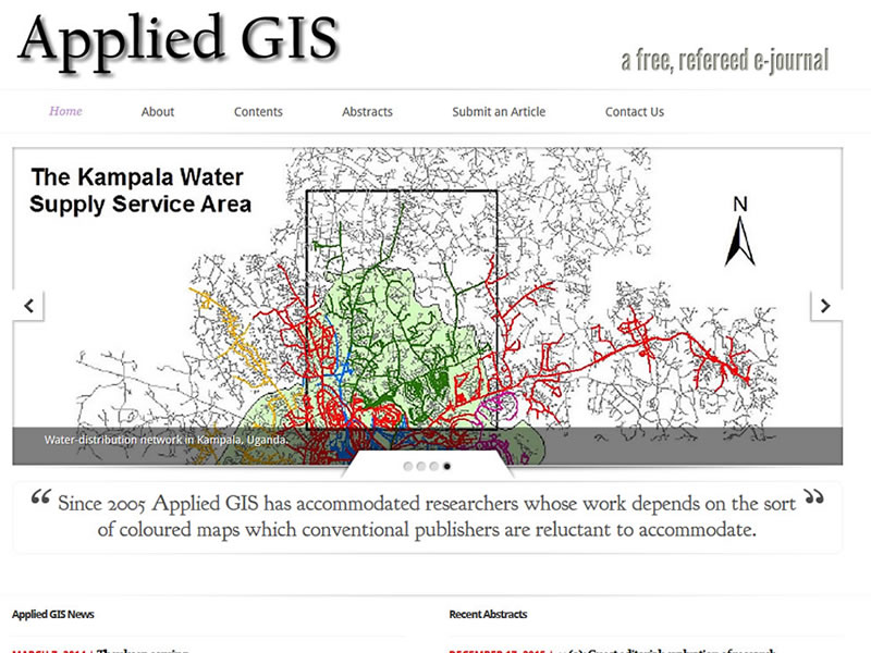 Applied GIS Website Portfolio