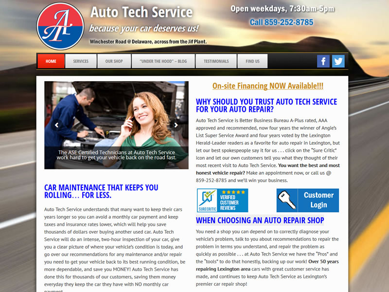 Auto Tech Service Website Portfolio