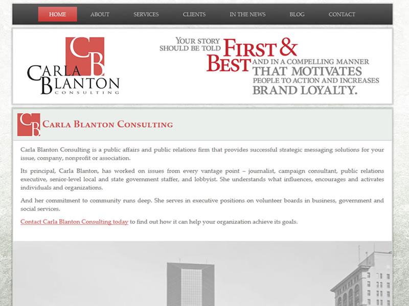 Carla Blanton Consulting Web Design
