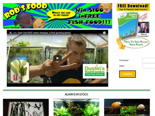 Dustin's Fishtanks Website