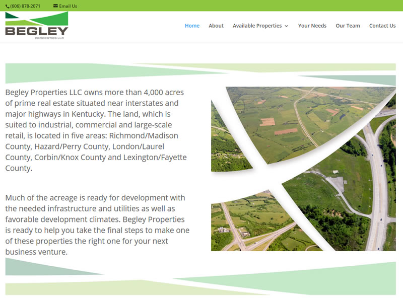 Begley Properties LLC Custom Website