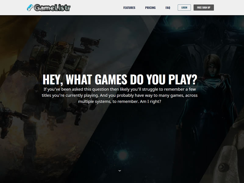 GameListr custom PHP website