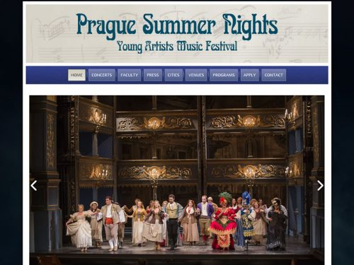 Prague Summer Nights Custom Site
