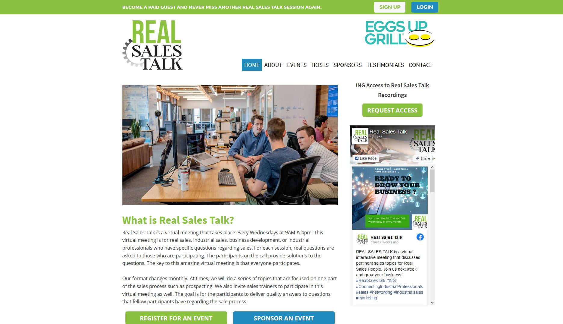 Real Sales Talk Website