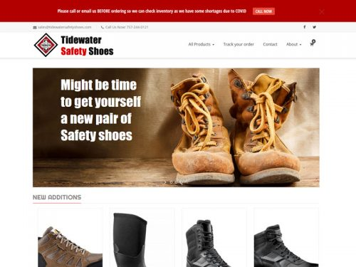 Tidewater Safety Shoes Website